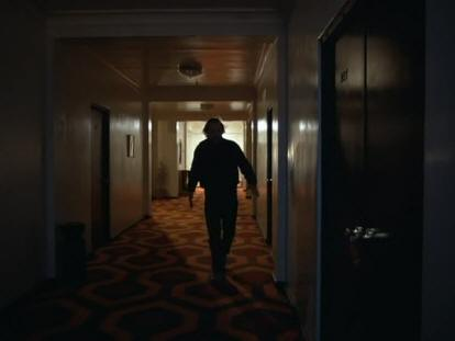 After Jack Exits Room 237 He Becomes A Dark Silhuoette Perhaps Hinting At The Obsucrity Of His Identity In Dream